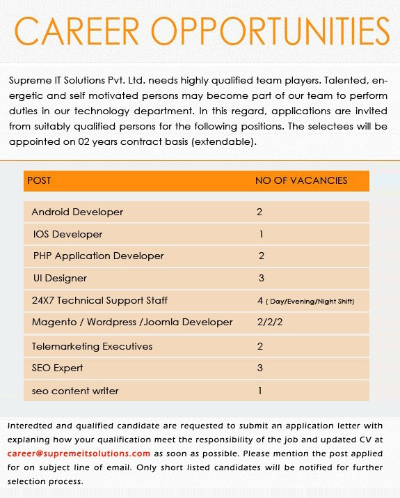 supreme it solutions careers